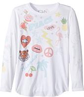 Chaser Kids - Vintage Jersey Long Sleeve Shirttail (Little Kids/Big Kids)