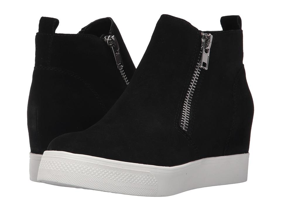 Steve Madden Wedgie Sneaker (Black Suede) Women's Shoes