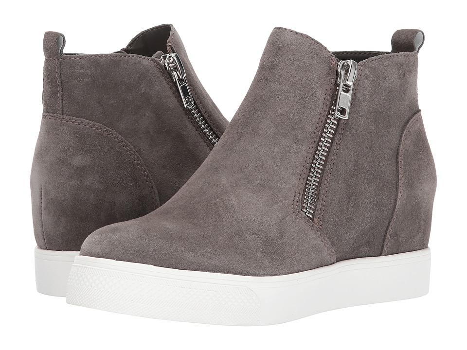 Steve Madden Wedgie Sneaker (Grey Suede) Women's Shoes
