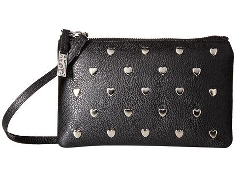 Brighton Pretty Tough Heart Pouch Mini Bag - Black