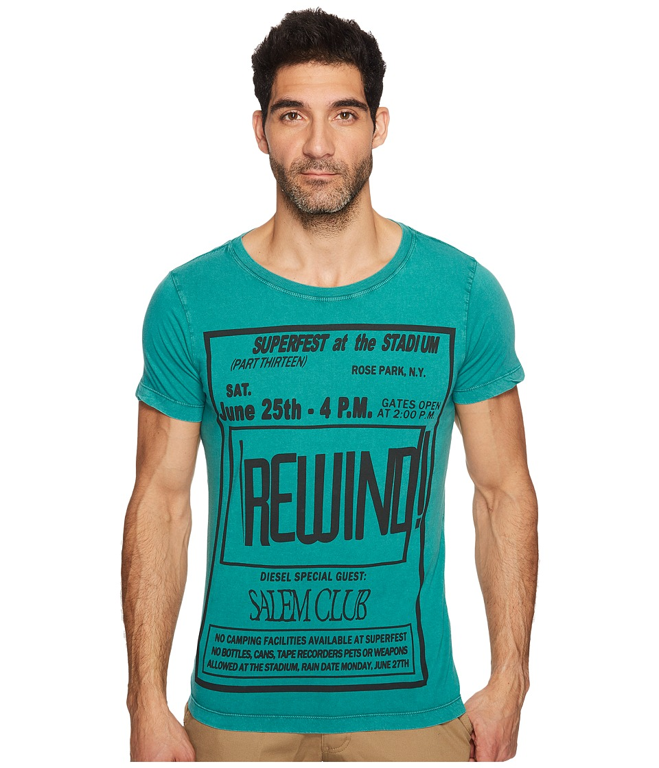 Diesel T-Diego-DC-QE T-Shirt (Green Lake) Men