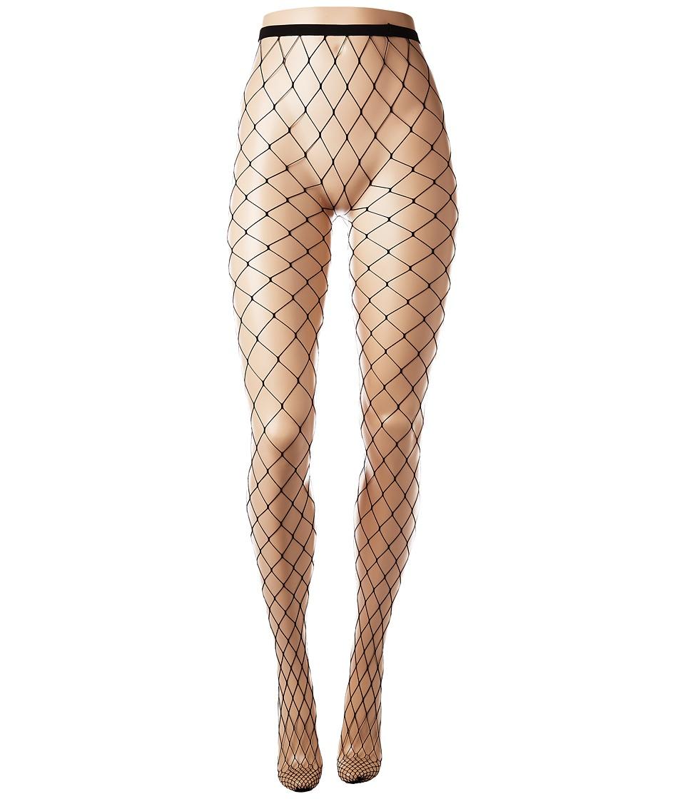 HUE - Large Fishnet Tights (Black) Fishnet Hose