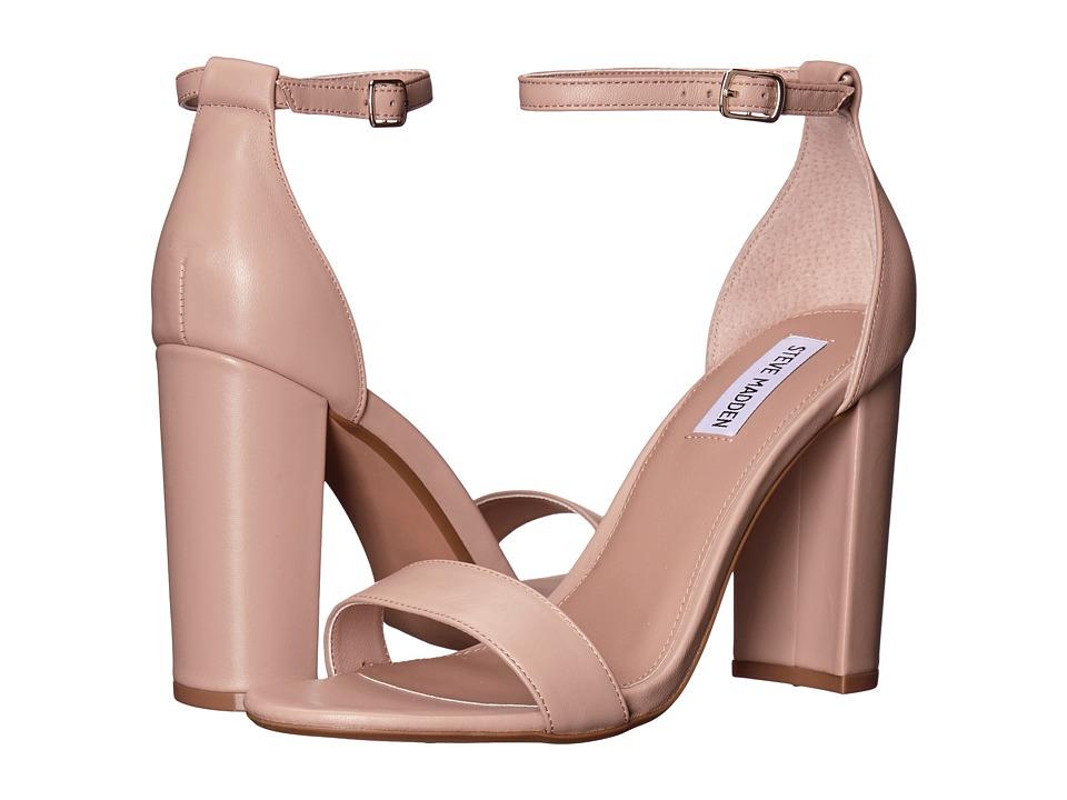 Steve Madden Carrson Heeled Sandal (Blush Leather) High Heels