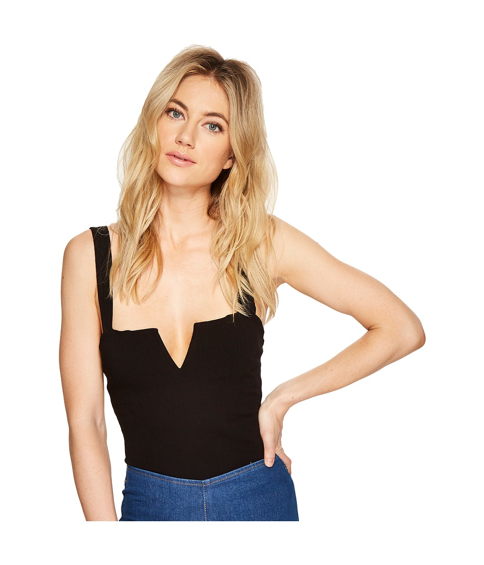 Free People - Pippa V-Wire Bodysuit (Black) Womens Jumpsuit & Rompers One Piece