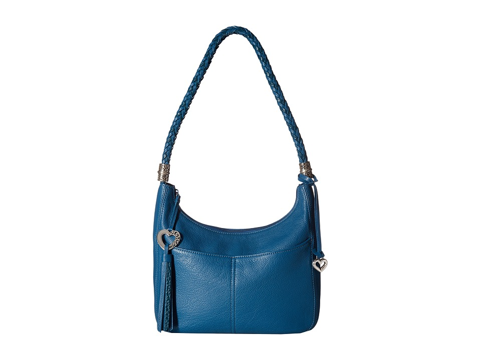 Brighton - Barbados Zip Top Hobo (Lagoon) Hobo Handbags
