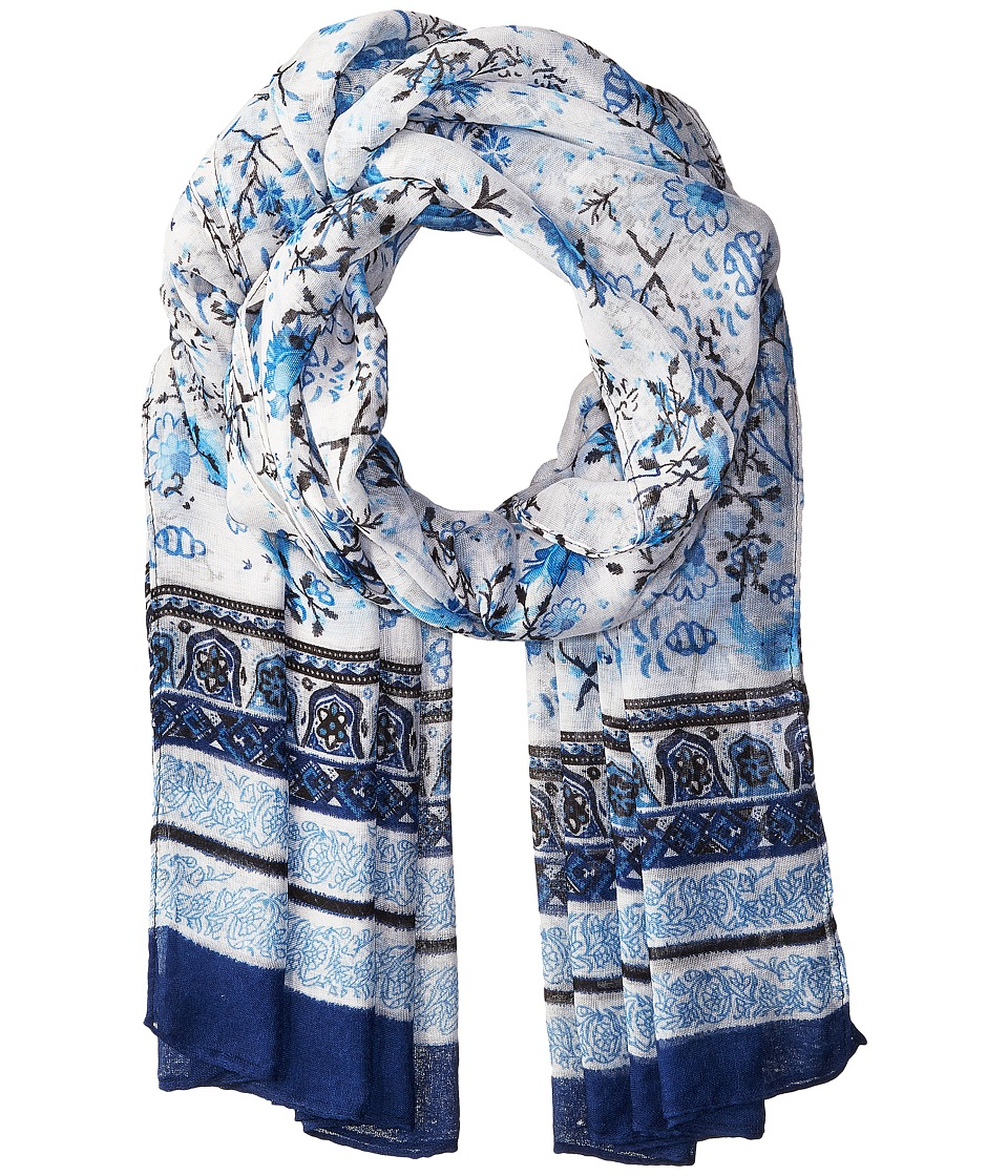 Bindya - Floral Scarf with Border