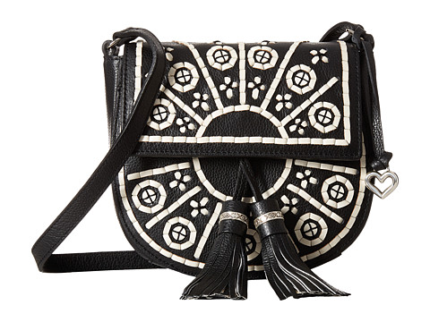 Brighton Blanca Flap Crossbody - Black/White