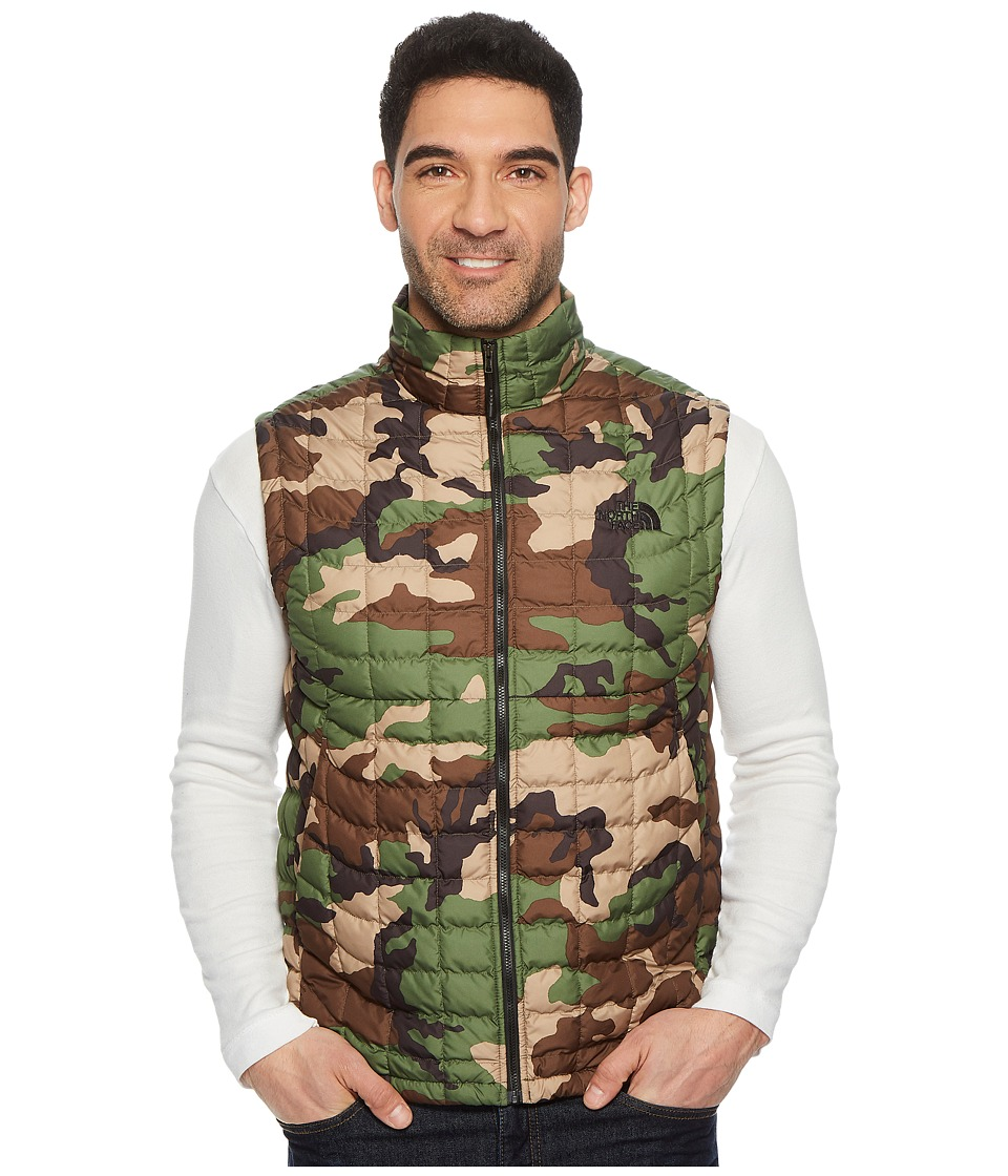 The North Face Thermoball Vest (Terrarium Green Woodland Camo Print) Men
