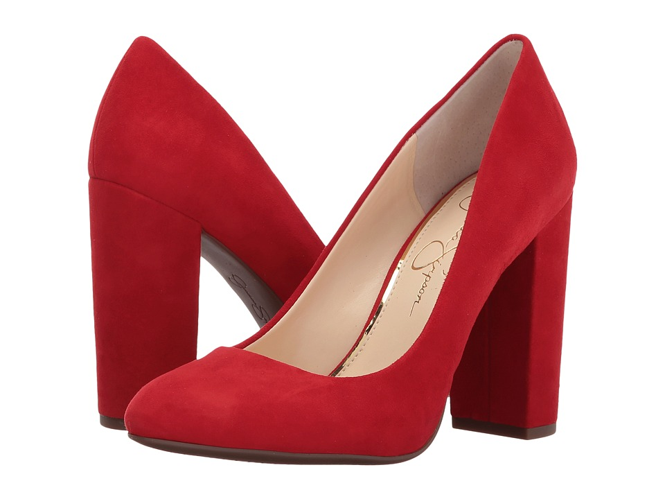 Jessica Simpson Belemo (Red Muse Lux Kid Suede) High Heels