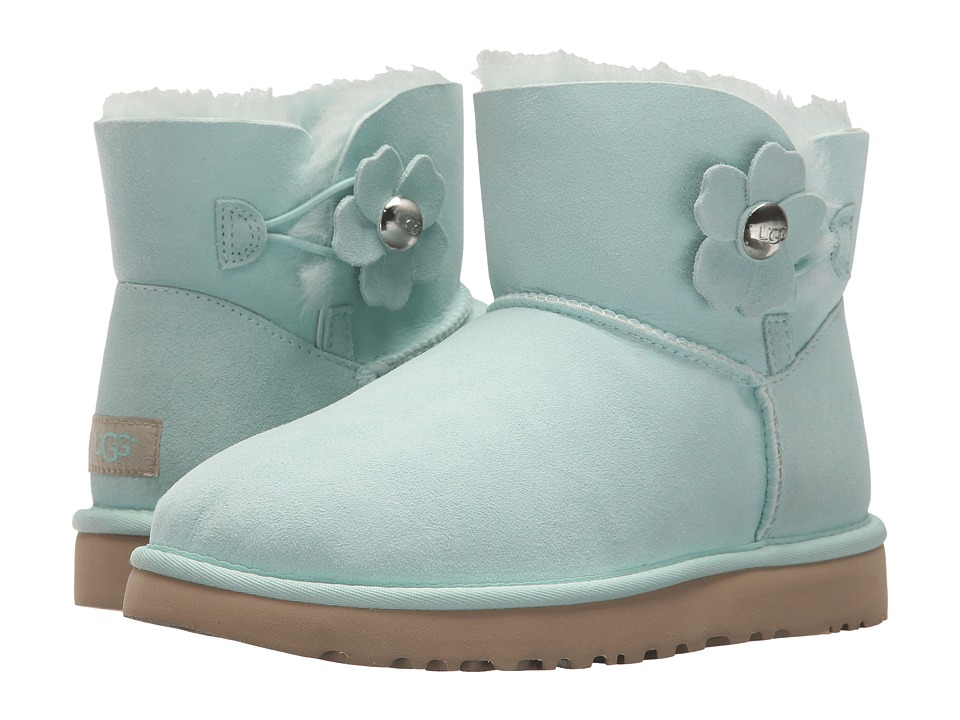 Ugg Mini Bailey Button Poppy (Aqua) Women's Shoes