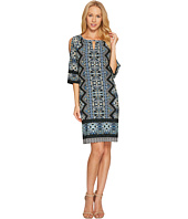 London Times - Ornate Diamond Scroll Raglan K Dress