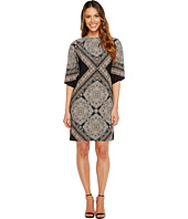 London Times - Medallion Lace Kimono Shift Dress