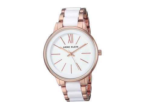 Anne Klein AK-1412WTRG - White/Rose Gold Tone