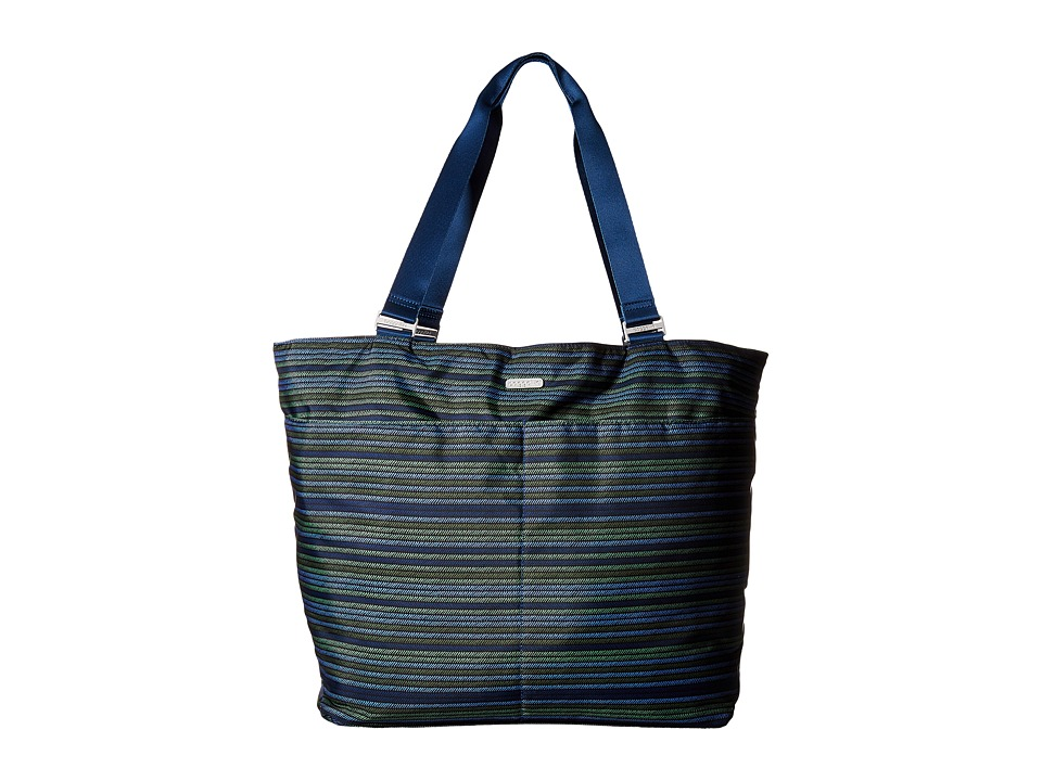 Baggallini Carryall Tote (Moss Stripe Multi) Tote Handbags