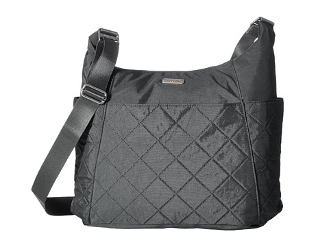 Baggallini Quilted Hobo Tote with RFID - Pewter Quilt