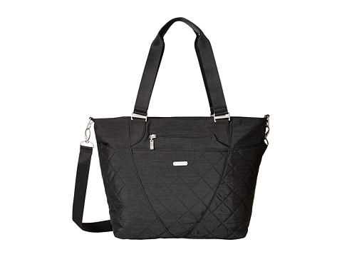 Baggallini Quilted Avenue Tote with RFID Wristlet - Black Quilt