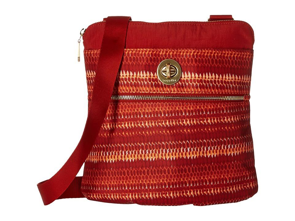 Baggallini Gold Hanover Crossbody (Flame Print) Cross Body Handbags