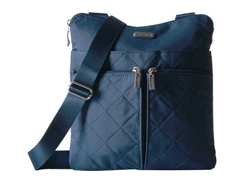 Baggallini Quilted Horizon Crossbody with RFID Wristlet - Slate Quilt