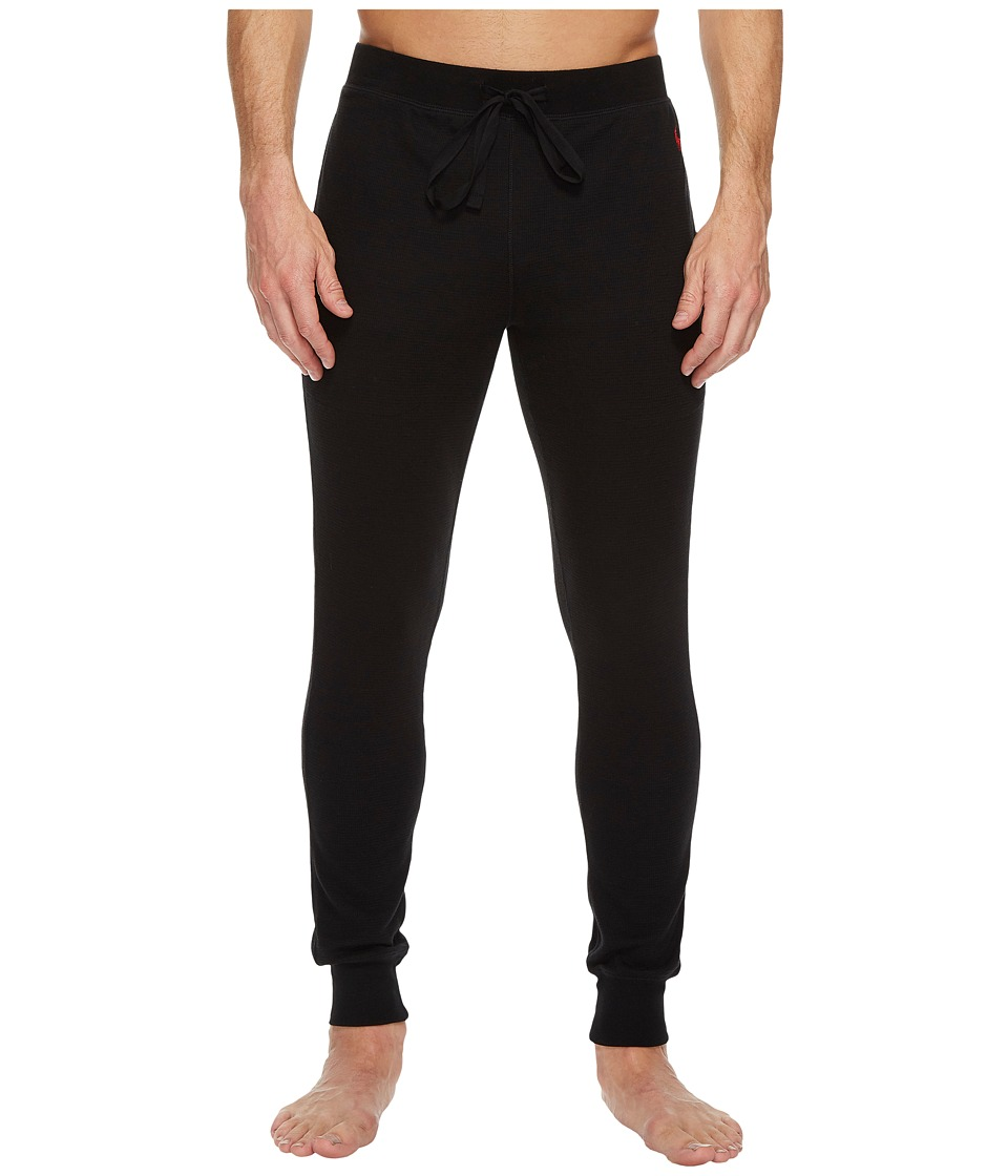 Ralph Lauren Waffle Knit Jogger Pants (Polo Black/Red Pon...