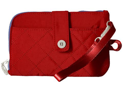 Baggallini RFID Passport & Phone Wristlet - Red/Navy