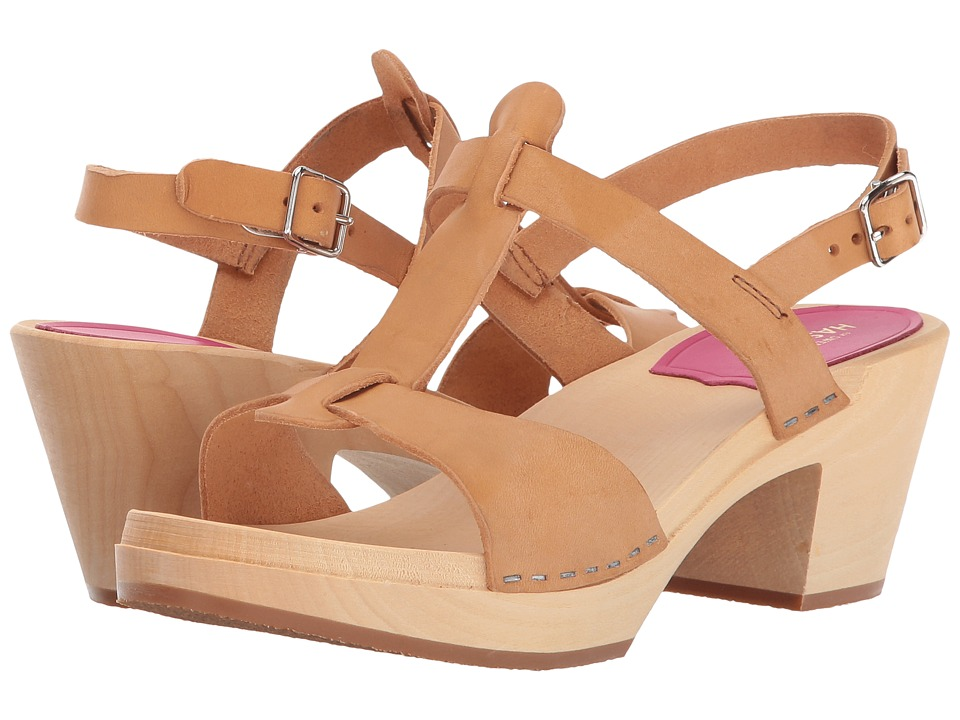 Swedish Hasbeens - Greek Sandal (Nature) High Heels