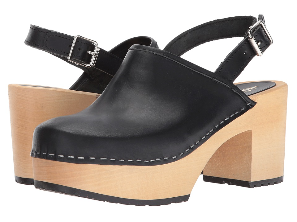 Swedish Hasbeens - Jill Platform (Black) High Heels