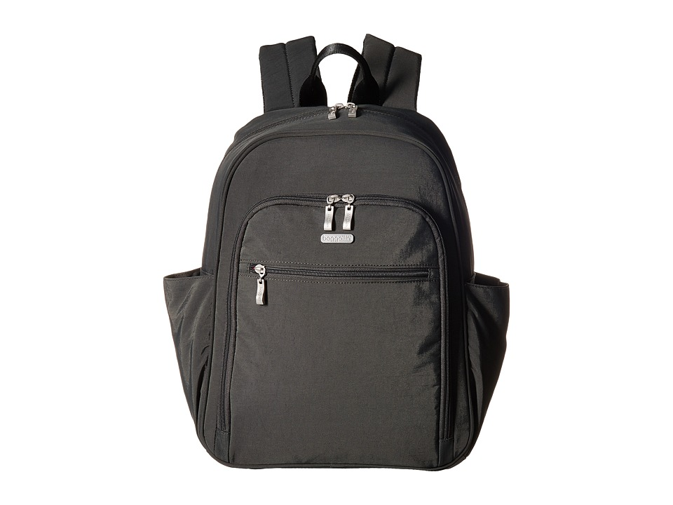 Baggallini Essential Laptop Backpack with RFID (Charcoal) Backpack Bags