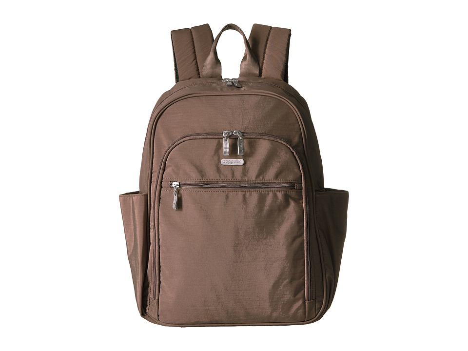 Baggallini Essential Laptop Backpack with RFID (Portobello) Backpack Bags
