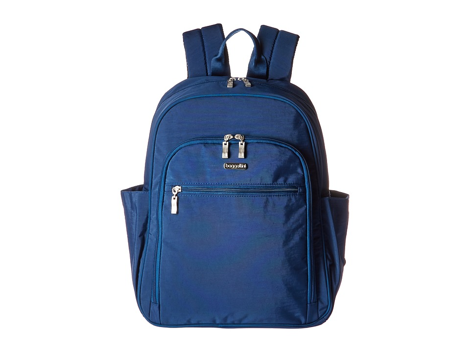 Baggallini Essential Laptop Backpack with RFID (Pacific) Backpack Bags