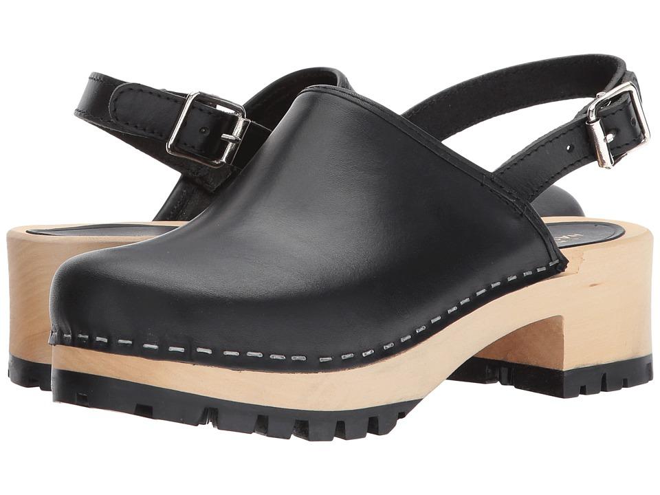 Swedish Hasbeens - Jill (Black) Womens Clog/Mule Shoes