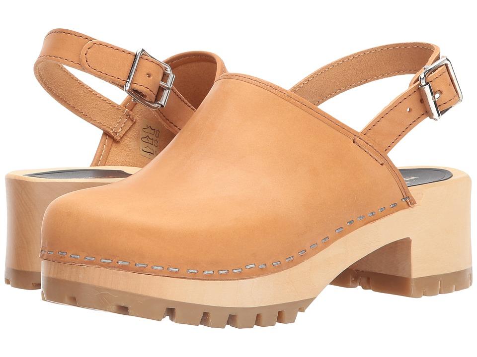 Swedish Hasbeens Jill (Nature) Women's Clog/Mule Shoes