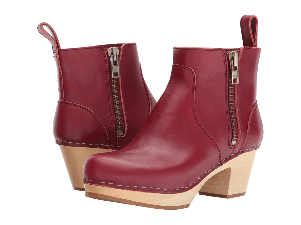 Swedish Hasbeens Zip It Emy (Wine Red) Women