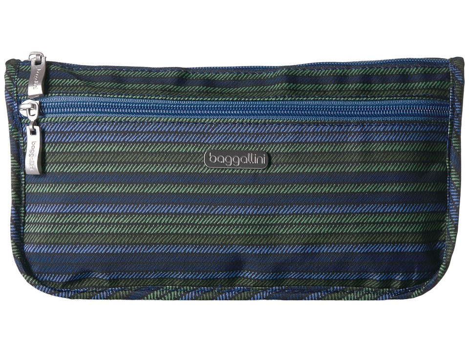 Baggallini Large Wedge Case (Moss Stripe) Cosmetic Case
