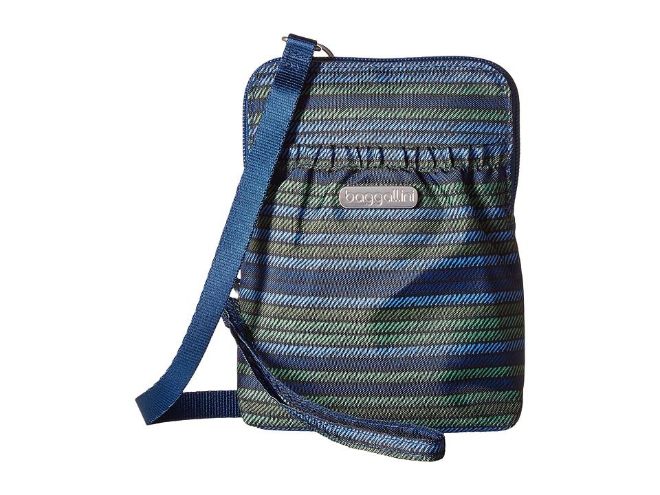 Baggallini Bryant Pouch (Moss Stripe) Cross Body Handbags