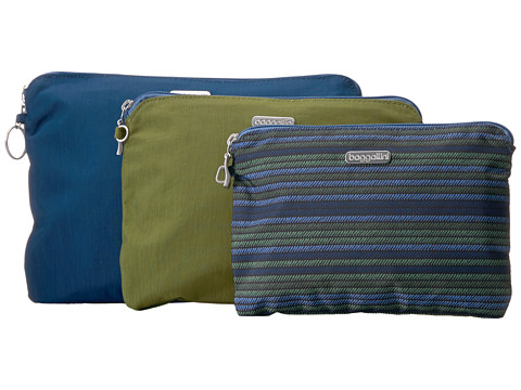 Baggallini 3 Pouch Travel Set - Moss Stripe Multi