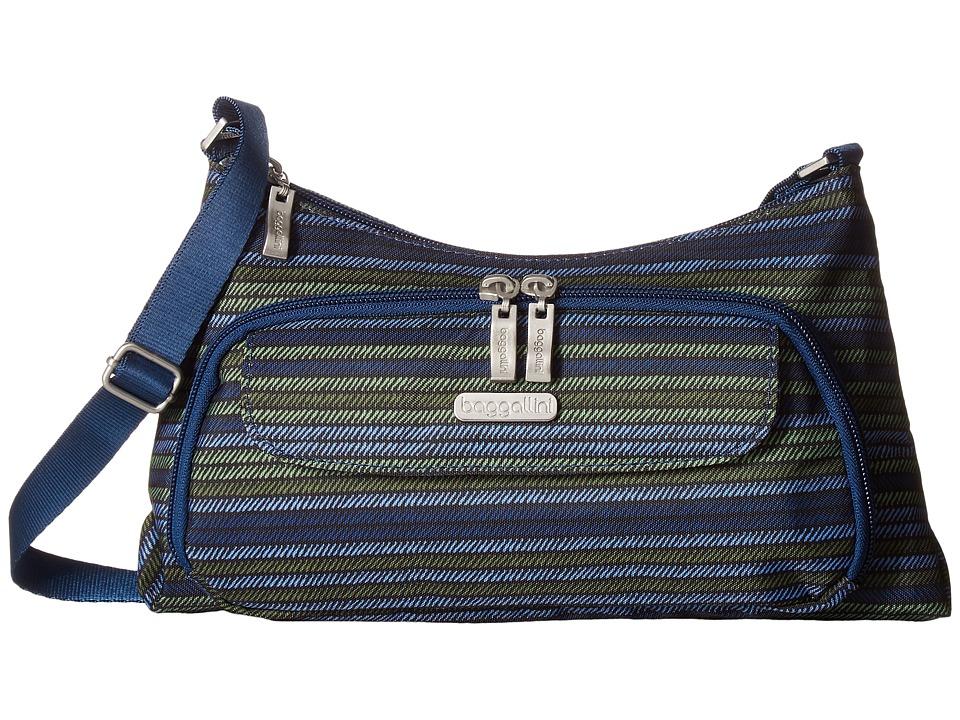 Baggallini Everyday Bagg (Moss Stripe) Cross Body Handbags