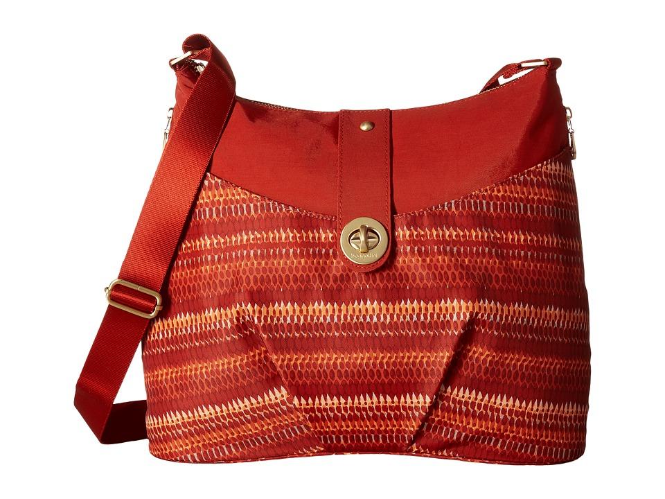 Baggallini Gold Helsinki Bag (Flame Print) Handbags