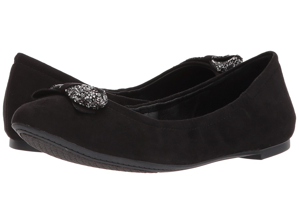 Jessica Simpson - Neverly (Black Microsuede) Womens Flat Shoes