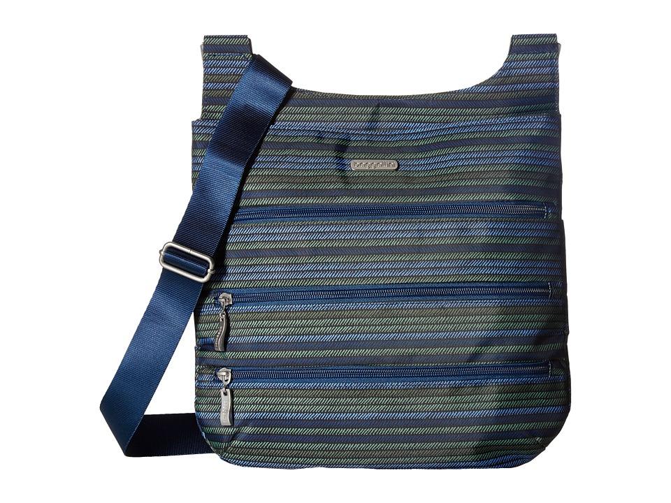 Baggallini Big Zipper Bag (Moss Stripe) Bags