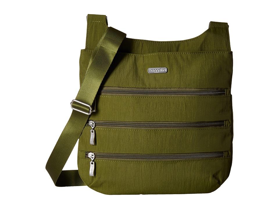 Baggallini Big Zipper Bag (Moss) Bags