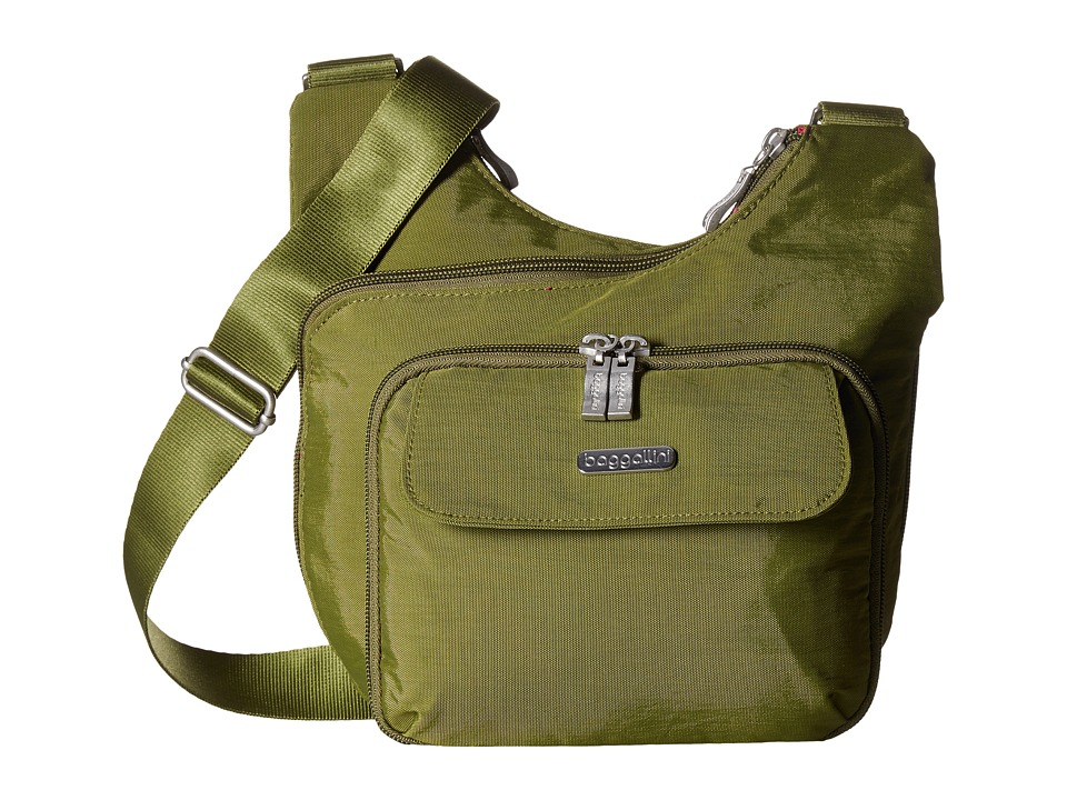 Baggallini Criss Cross (Moss) Cross Body Handbags
