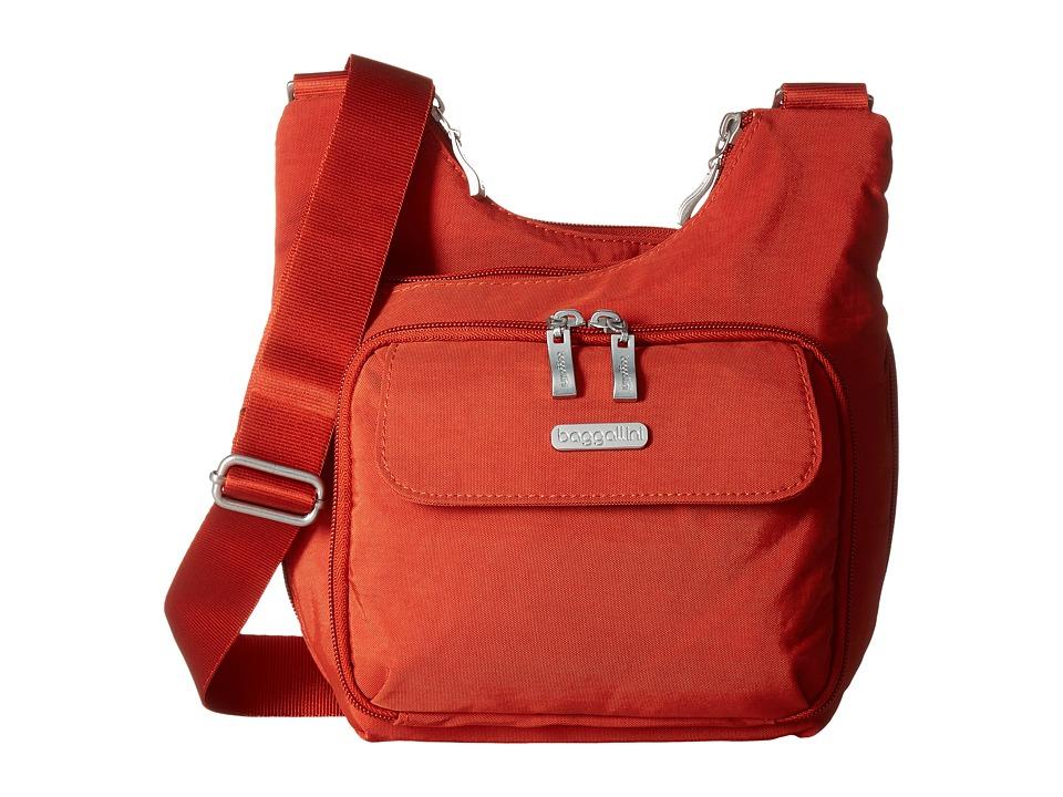 Baggallini Criss Cross (Adobe) Cross Body Handbags