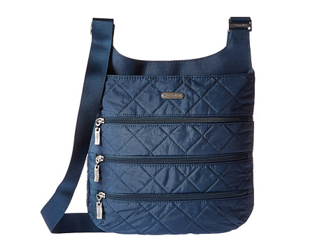 Baggallini Quilted Big Zipper Bag with RFID - Slate Quilt