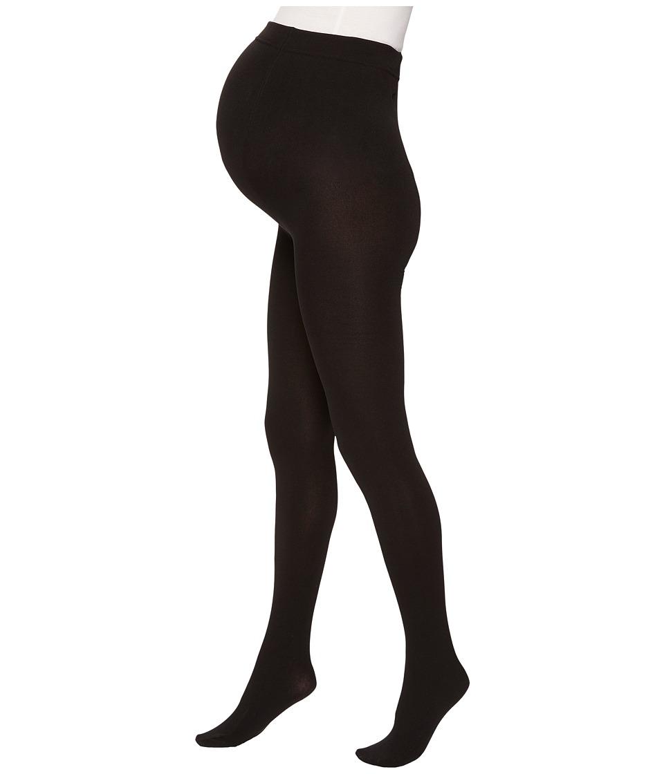 Plush - Maternity Fleece-Lined Full-Foot Tights (Black) Hose