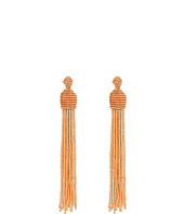 Kenneth Jay Lane - Champagne Bead Tassel Direct Post Ear Earrings