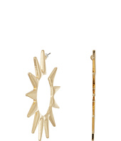 Kenneth Jay Lane - Polished Gold Spike Hoop Pierced Earrings