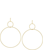 Kenneth Jay Lane - Polished Gold Small Circle Top Large Circle Drop Post Earrings