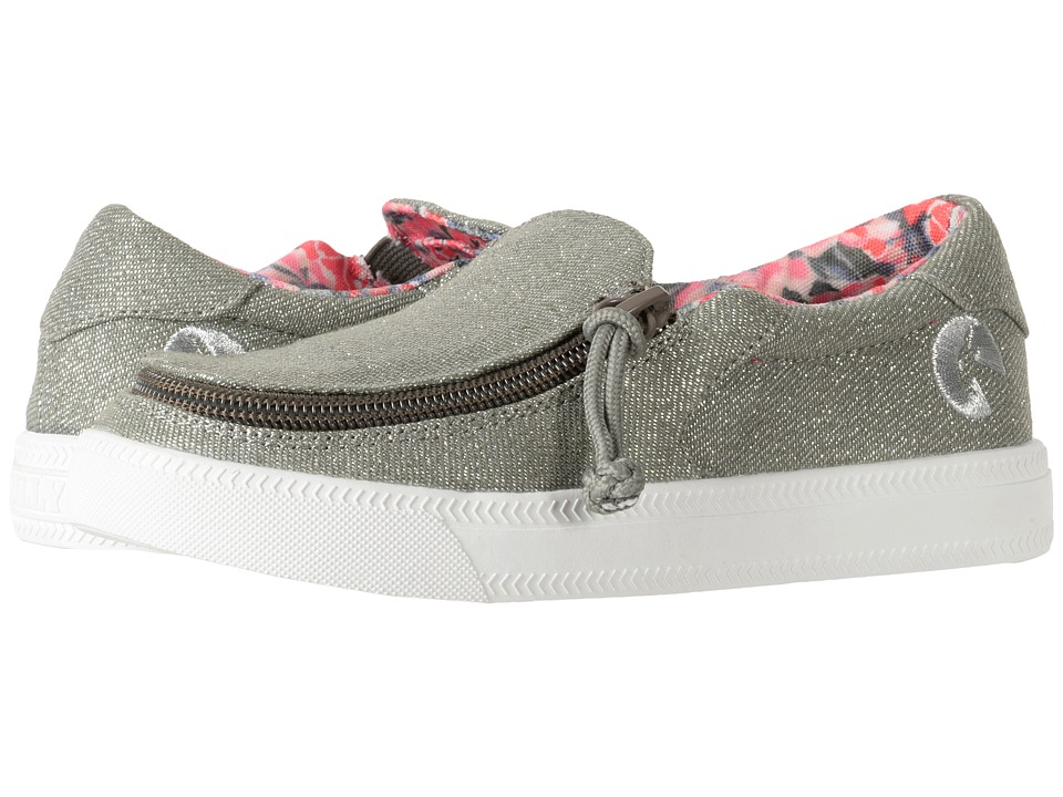 BILLY Footwear Kids Classic Low Lux (Toddler/Little Kid/Big Kid) (Grey/Silver) Girls Shoes