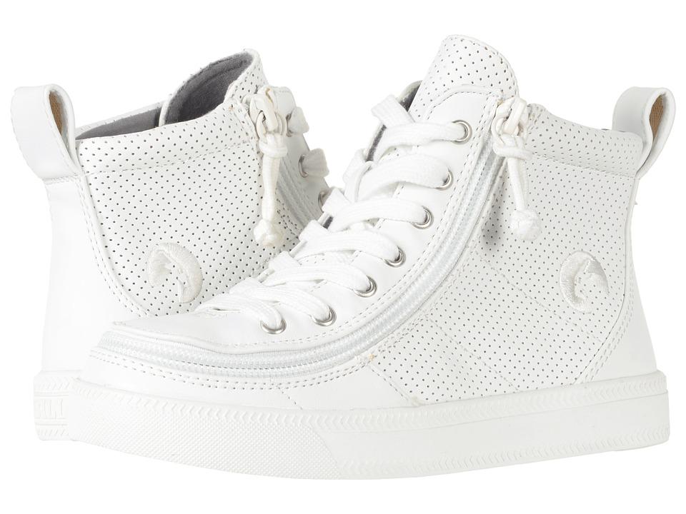 BILLY Footwear Kids Classic High Perf (Toddler/Little Kid/Big Kid) (White Perf) Kids Shoes