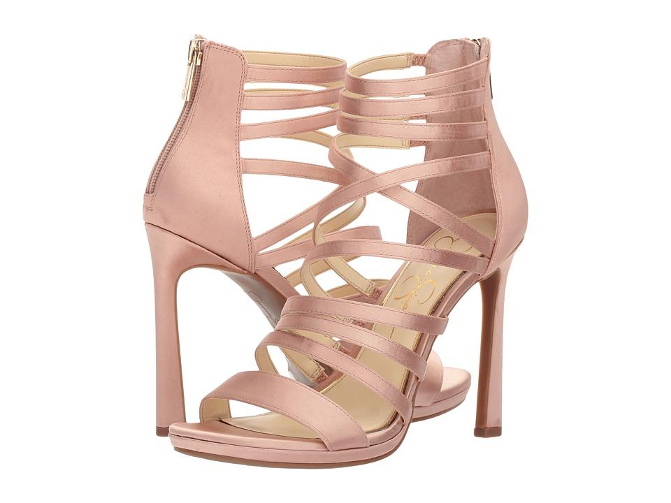 Jessica Simpson Palkaya (Nude Blush Crystal Satin) High Heels